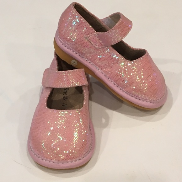 a91ae0de58d6c Sneak A Roos Pink Sparkle Mary Jane Squeaker Shoes